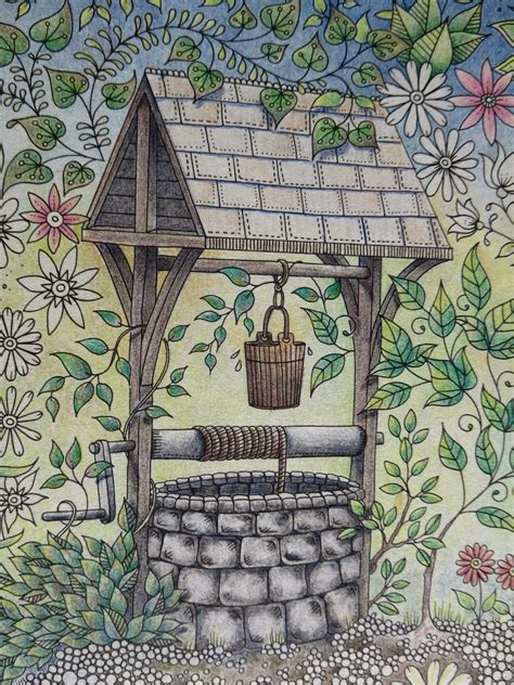 secret garden coloring book completed for pencils my secret garden colouring book the