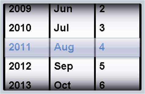 Dojox Widget Calendar Dojox Mobile Spinwheeldatepicker The Toolkit