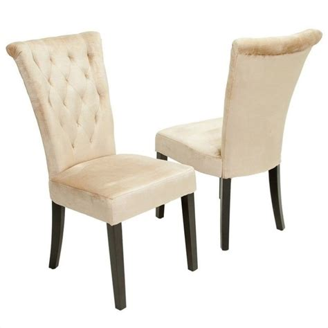 Vatican Chair by Trent Home Vatican Dining Chair In Chagne Set Of 2