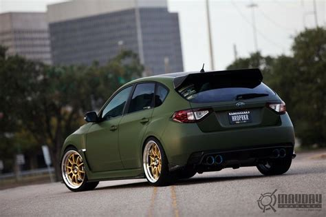 subaru gold matte green and gold wheels subaru inspiration