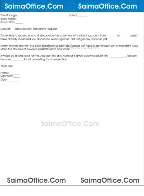Bank Statement Letter To Manager Request Letter For Bank Statement Sle Cover Letter Templates