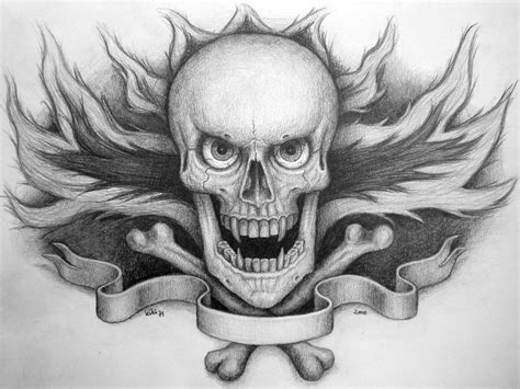 skull on fire tattoo by kiki71 on deviantart