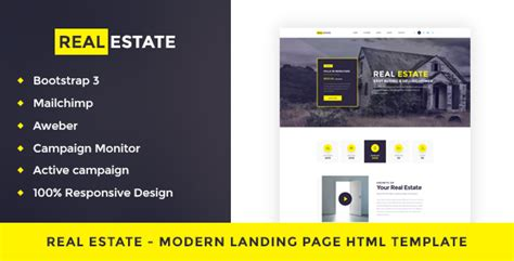 Real Estate Single Property Landing Page Html Template Theme For U Landing Page Html Template