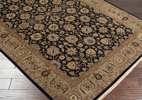 Surya Wool Area Rugs Surya Area Rugs Heirloom Wool Rug Hlm6004 Black Traditional Rugs Area Rugs By Style Free