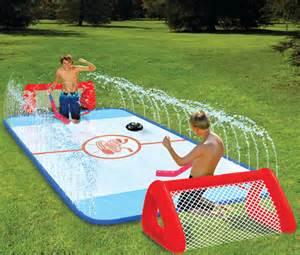 backyard sports water soaked knee hockey rink