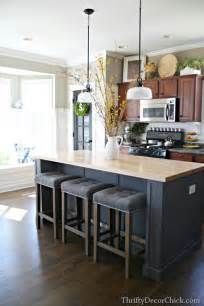 kitchen island decoration updated kitchen pics from thrifty decor