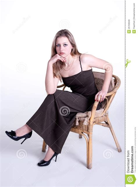 girls armchair girl sitting in armchair on white background royalty free stock images image 25703049