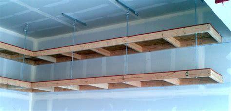 image of overhead garage storage rack ceilingangled