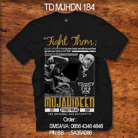 Baju Kaos T Shirt Distro Drawing White Wd14 kaos mujahidin mujahidin distro 0856 4346 4848