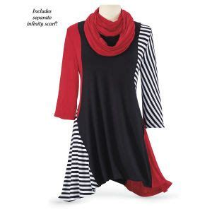 Pyramid Tunic Dress perisimmon tunic and scarf set at pyramid collection my style