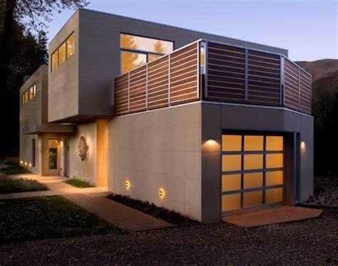 Modern Exteriors by Modern Home Exterior With Warm Lighting Modern