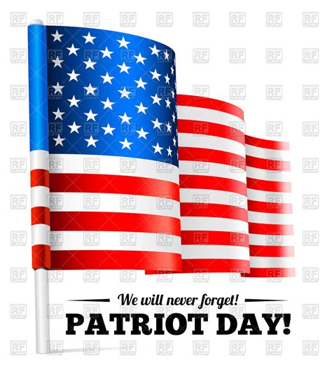 patriot day patriot day september 11 waving usa flag vector image