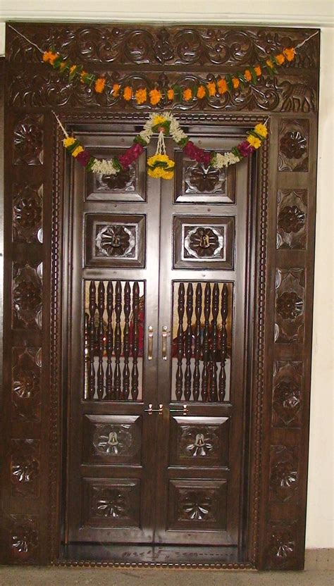 pictures  doors  hawaii pooja door designs teak wood