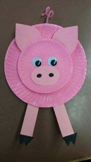 pig crafts for pig paper plate craft s web farm theme