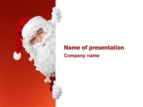 santa around the corner presentation template for