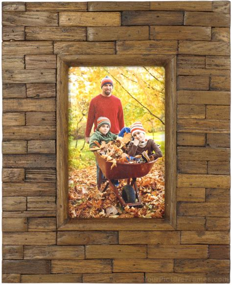 Handcrafted Framing - handcrafted teak wood picture frame