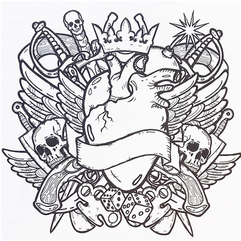 tattoo designs adult colouring book colour me awesome