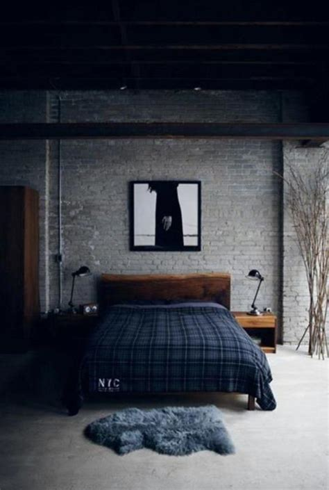 bedroom dark walls 15 bold industrial bedroom design ideas rilane
