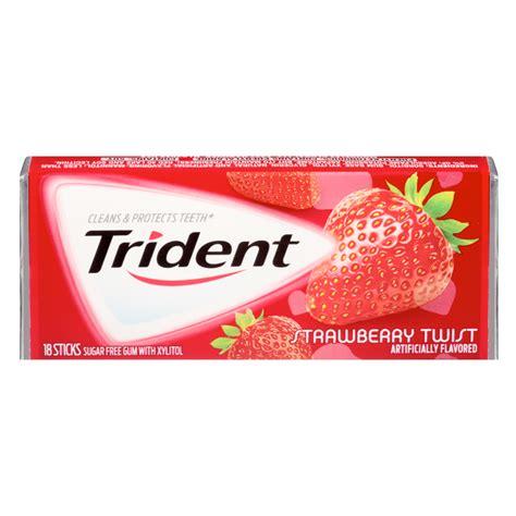 Tridans Original 100 trident strawberry twist flavor gum 18 sticks american fizz