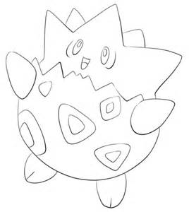 togepi coloring free printable coloring pages