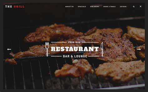 bootstrap templates for restaurant free thegrill creative restaurant template wrapbootstrap