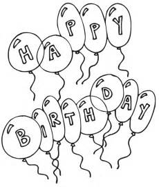 pics photos birthday balloon coloring pages birthday balloon coloring sheets