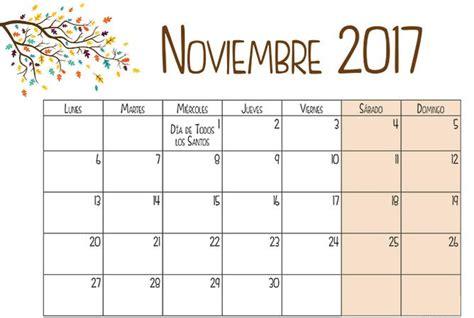 Calendario 2017 Noviembre Calendario Noviembre 2017 Para Imprimir Calendario 2018