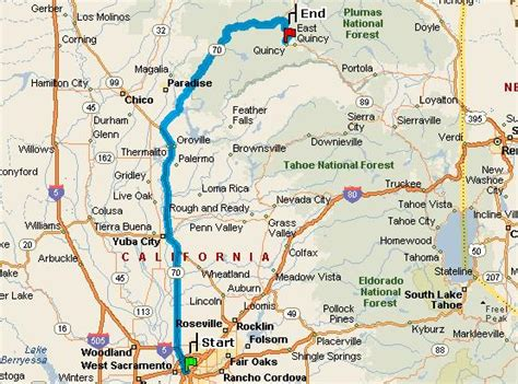 quincy california map map directions from sacramento to the pine hill motel in