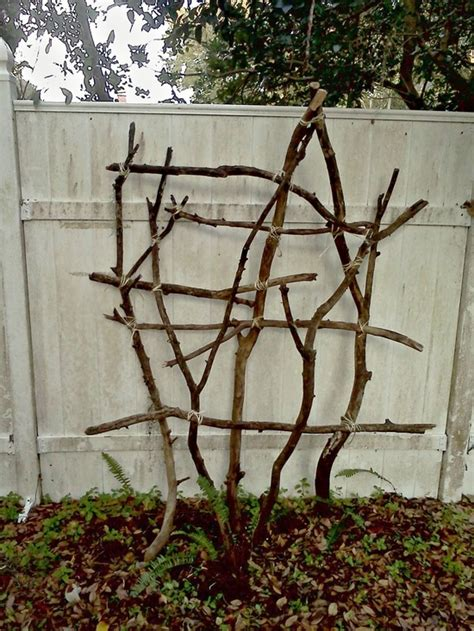 Garden Arbor Made From Branches Trellis Made Of Branches Secret Garden This Is A