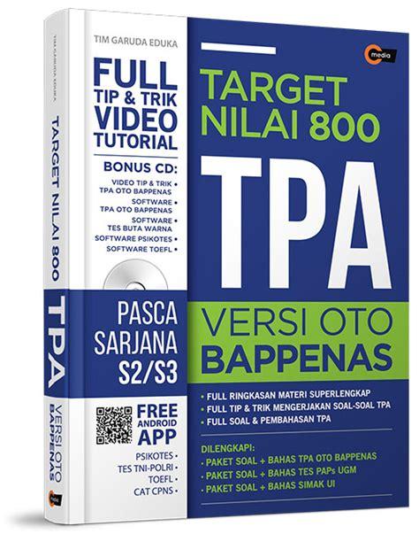 Trik Melejitkan Skor Tpa Versi Oto Bappenas target nilai 800 tpa versi oto bappenas notebook pulpen bukubukularis toko buku