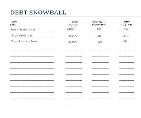 Debt Snowball Worksheet by Snowball Debt Worksheet Saving