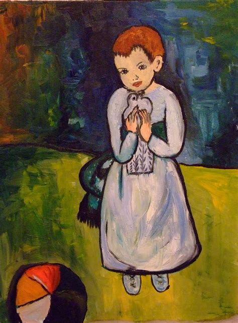 picasso paintings child with a dove images