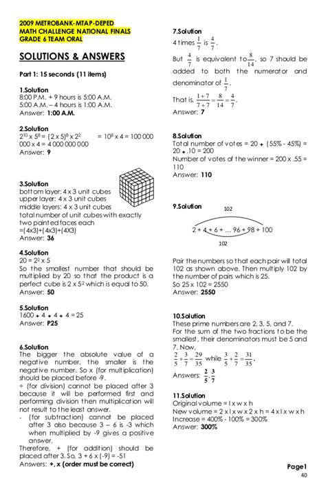 maths challenge 6 answers grade 6 mtap reviewer