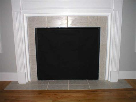 Fireplace Cover by Fireplace Fashion Fireplace Cover Insulated Decorative