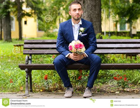 groom waiting  bride stock photo image  fiance