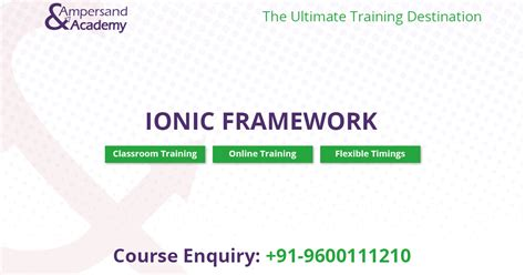 ionic tutorial exle hybrid mobile app development course chennai corporate