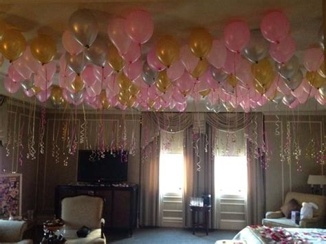 room filled with balloons room filled with balloons bachelorette pink and gold theme themes random