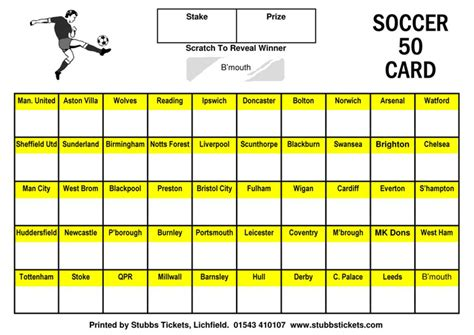 football scratch card template scratch cards