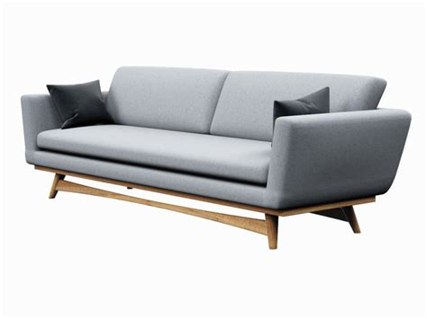 scandi sofa sofa red edition scandinavian design 3d model cgtrader