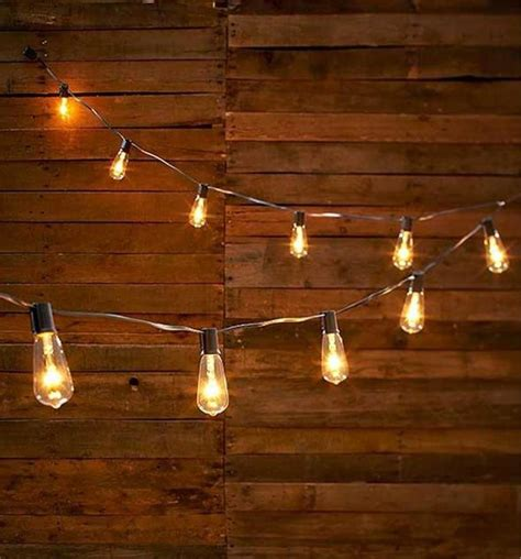 edison bulb patio string lights vintage look edison style 10 light bulb string light