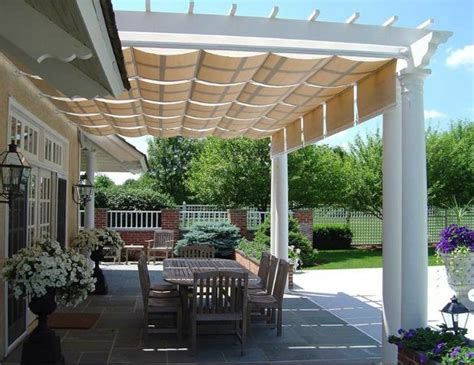 pergola with retractable awning renovation inspiration