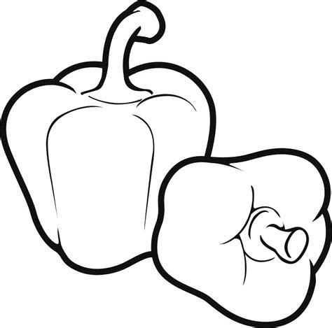 Galerry fruit and veggies coloring sheets