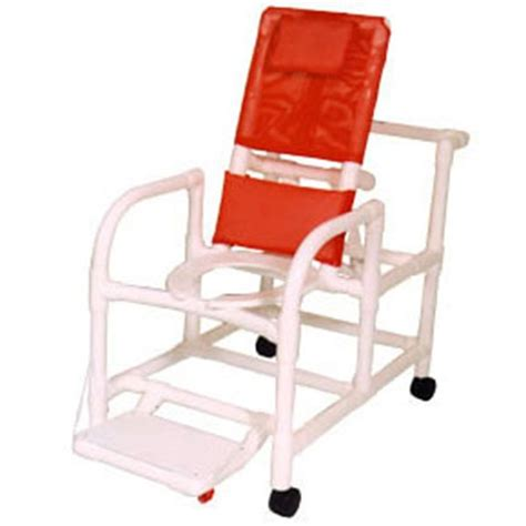 pvc reclining shower chair 20 econo line pvc reclining shower commode chair open
