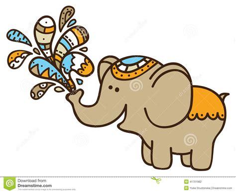 doodle elephant doodle elephant stock vector image 41701982