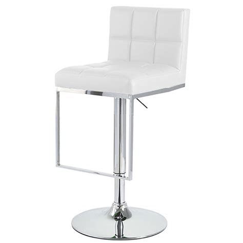new quot leather quot bar counter stool adjustable chrome