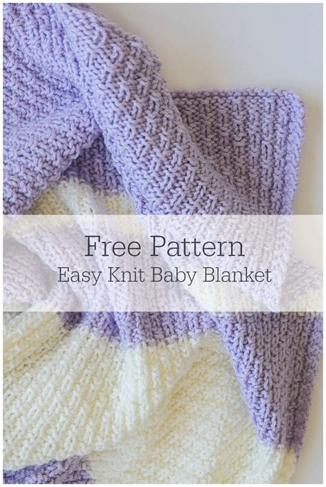 Easy Knit Baby Blanket Patterns by Easy Knit Baby Blanket Pattern Leelee Knitsleelee Knits