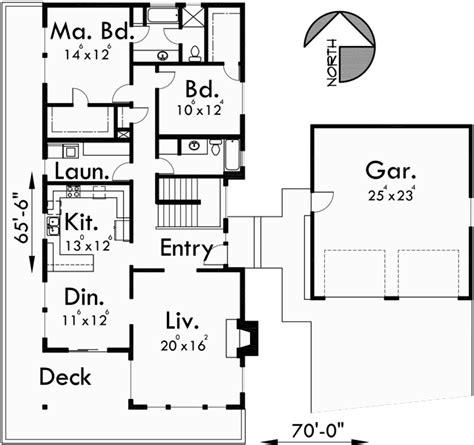 daylight basement house plans side slope plan with side sloping lot house plan walkout basement detached garage
