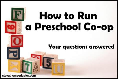 preschool co op q a