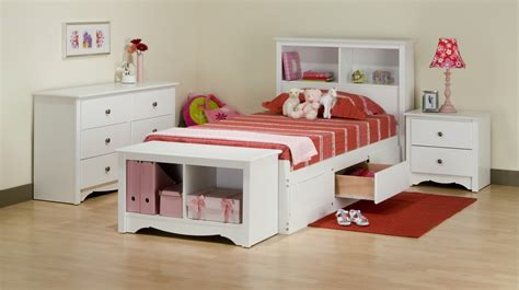 monterey white bookcase platform storage bed walmart