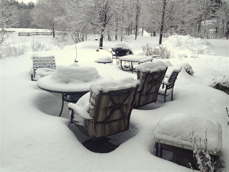 Snow Furniture by The Subtle Of Snow Covered Patio Furniture New